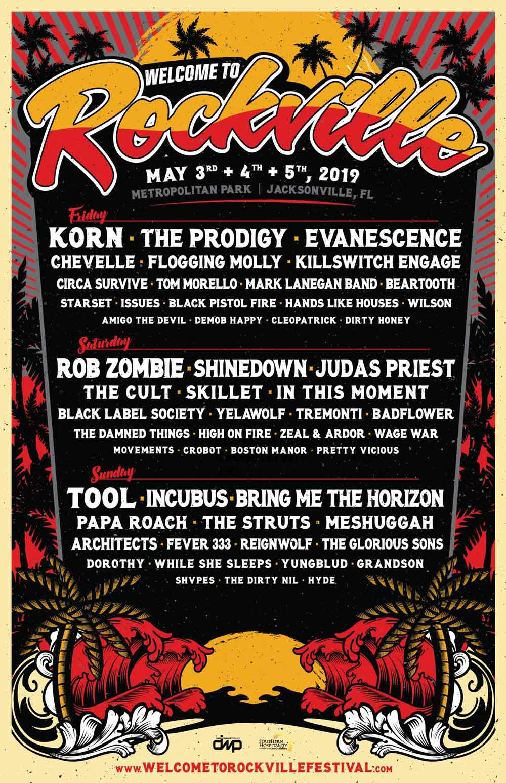 2019 welcome to rockfville lineup poster