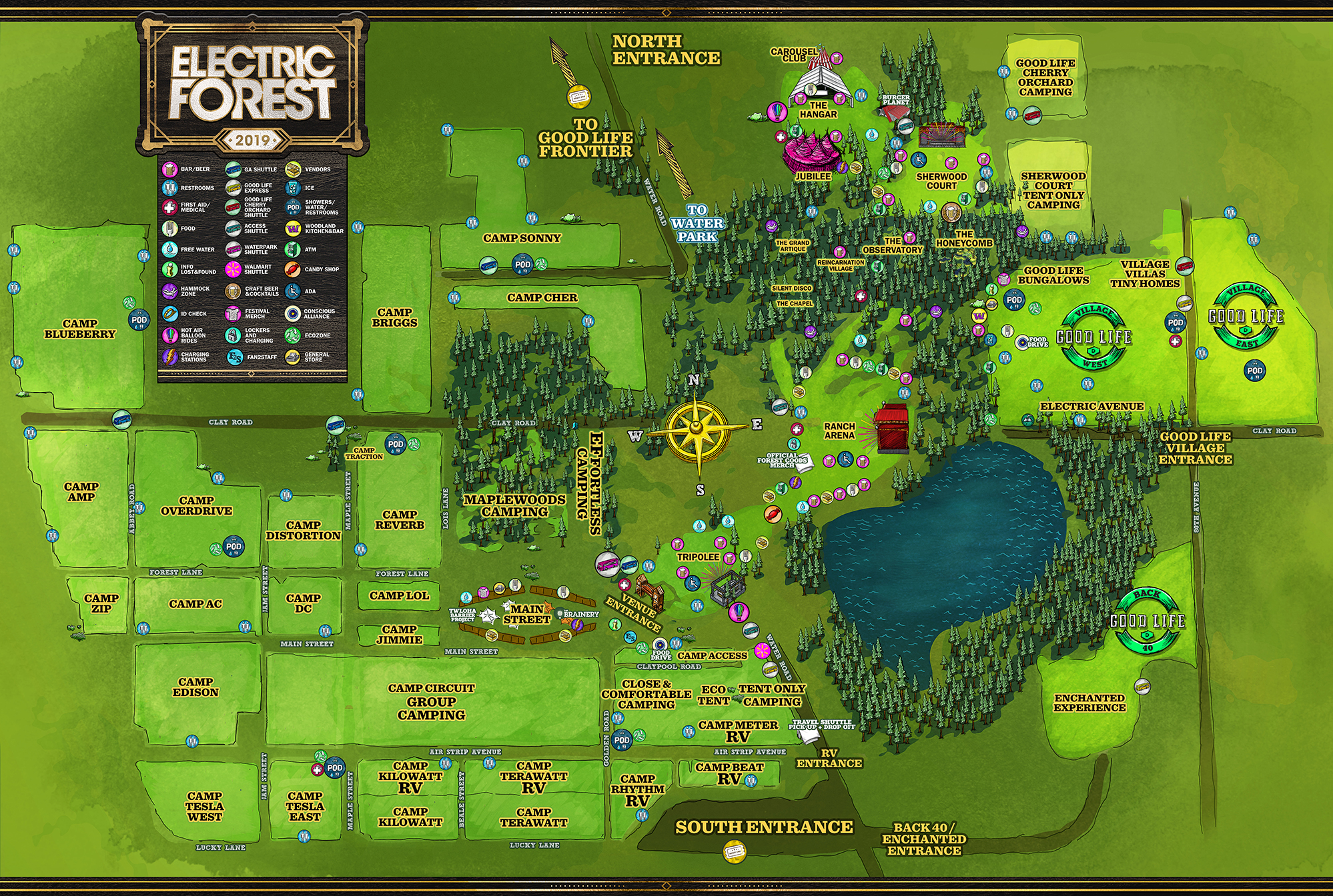 Electric Forest Map Getting Ready for Electric Forest 2019   Festival Survival Guide