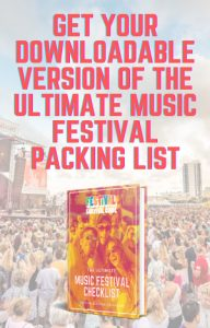 festival packing list download banner widget area